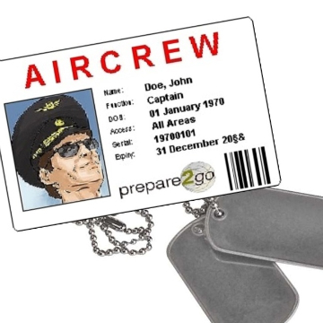 Aircrew card and dog tags
